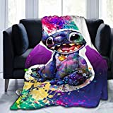 Lilo Stitch Ultra Soft Micro Fleece Durable Throw Blankets Soft Warm Children Blanket Sheet for Crib Adults Kids Bed Bedding Couch Chair Collage Dorm Living Room Home Decor 60'X50'