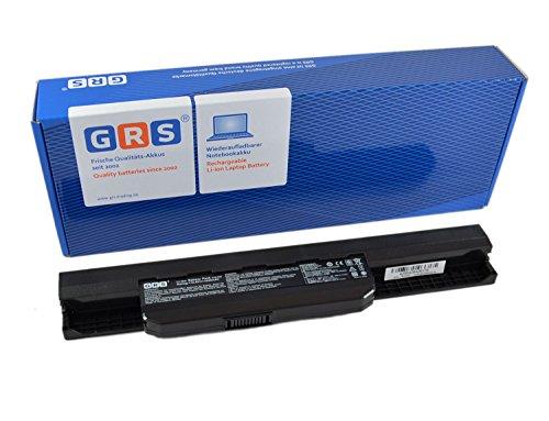 GRS Batería para ASUS A53S, A53U, K53, K53SV, ASUS X43S, X43SV, sustituye a: A32-K53, A42-K53, Laptop Batterie 4400mAh, 10.8V