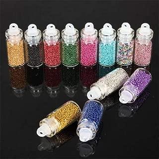 DoneCenter(TM) 3D Nail Art DIY Mini Glitter Caviar Micro Beads Tips Acrylic UV Gel 12 Colors