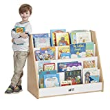 ECR4Kids Colorful Essentials 4-Tier Book Display Stand for Classrooms and Homes