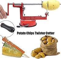 果物、ジャガイモ、トルネードチップ、キュウリ、またはニンジンをスライスするためのステンレス鋼スパイラルポテトスライサー