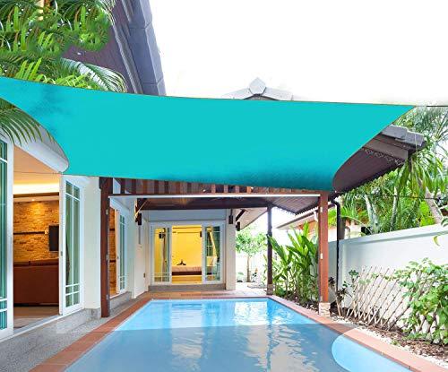 WDQJGD Toldo Vela de Sombra 3.6x3.6m Rectangular Toldo Toldo, 95% protección UV, Permeable y Permeable, Comercial y residencial, Conveniente for Patio Patio Pergola (Color : Green)
