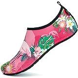 SAGUARO Hombre Mujer Zapatos de Agua Playa Escarpines Zapatillas de Deportes Acuáticos Buceo Surf Snorkel Yoga Piscina, Rosa 38/39