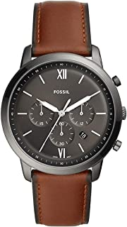 Fossil Neutra Chrono Men's Grey Dial Leather Analog Watch - FS5512