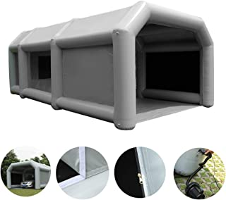 Inflatable Paint Booth Upgraded Enclosed Design Mobile Automotive Portable Spray Booths DIY Paint Tent Removable Washable Filter Constant Air Flow (23x13.1x8.2ft)