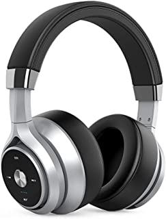 Bluetooth Wireless Headphones with Microphone Foldable Over Ear Bluetooth Soft Memory-Protein Earmuffs 5.0 Headset for Mobile Phone PC,Gray