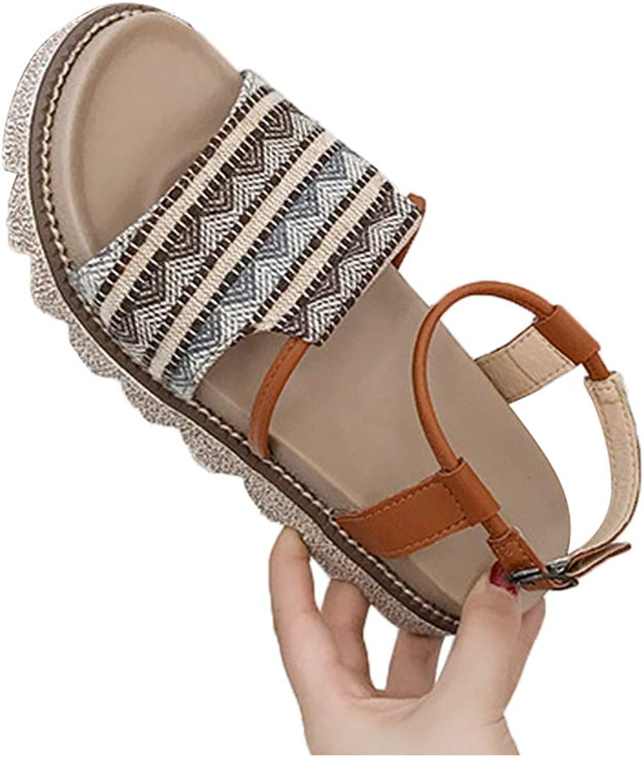 DBQWTY Ladies'Fashion Classic Workplace Leisure Sandals Fashion Open-Toed Sandals Flat-Soled Anti-Skid Sandals