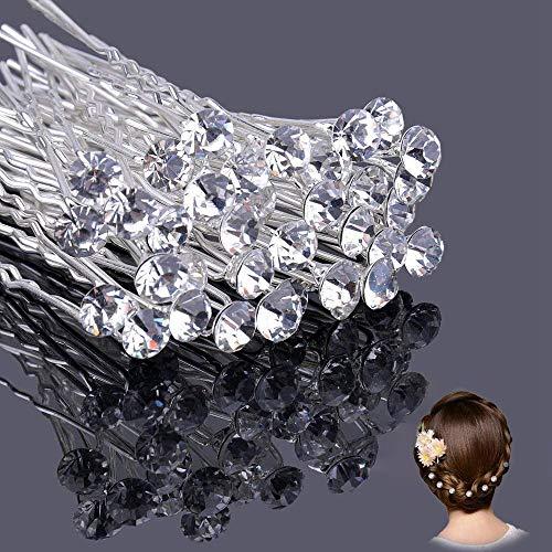 Ealicere 30 Pezzi Accessori acconciature sposa per Capelli,Matrimonio Clip di fermagli Capelli per Donne e Ragazze, Forcine per capelli con strass trasparenteper cerimonia nuziale.