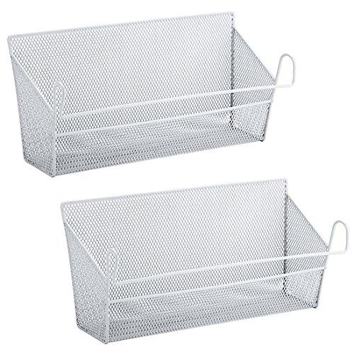 Tosbess 2 Stück Bett Hänge Organizer Nachttisch zum Einhängen Hängeregal Taschen Halter, ca.39 X 10 X18cm