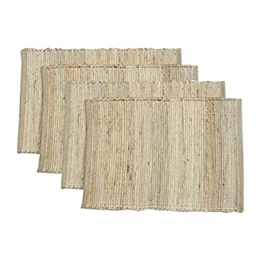 Chardin Home  Eco-friendly Natural Jute/ Hemp Placemats (set of 4 mats). Size: 13  X 19 .