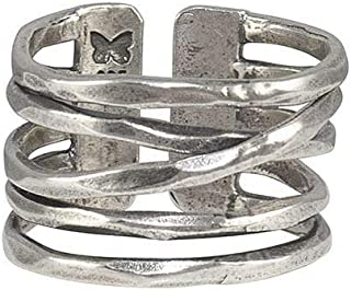 Waxing Poetic Flourish Sterling Silver Open Multi-Band Ring