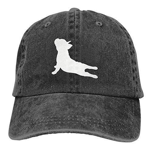 French Bulldog Yoga Cowboy Cap Unisex Headgear Casquette Baseball Hat Denim Hat