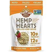 Manitoba Harvest Hemp Hearts Shelf Stable Hemp Seeds, 1lb; with 10g Protein & 12g Omegas per Serving, Keto, Gluten Free, Vegan, Whole 30, Paleo, Non-GMO