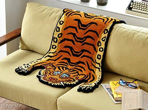 チベタンタイガーラグ ミディアム DETAIL Tibetan Tiger Rug [ DTTR-02 / Mサイズ ]
