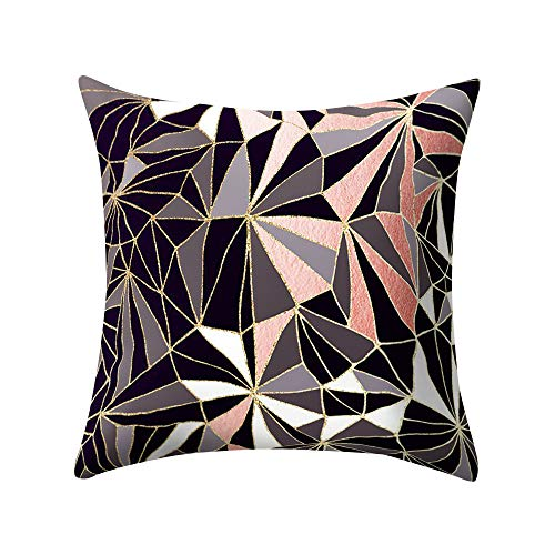IMJONO Square Cushion Cover Polyester Decorative Printed Geometric Design Striped Pillow Case Home Bedroom Living Room Office Cushion Sofa Car Bed 45 x 45 cm - - One size