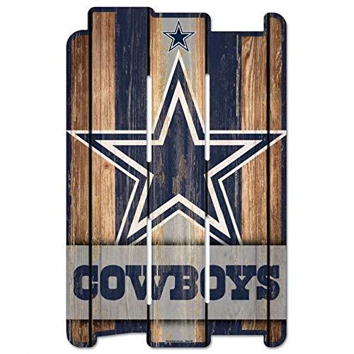 WinCraft NFL Dallas Cowboys Sign 11x17 Wood Fence