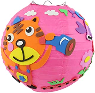 Panda Legends 2-Sets Cartoon Tiger DIY Lanterns Craft Kits for Kids Kindergarten Mid-Autumn Festival Halloween