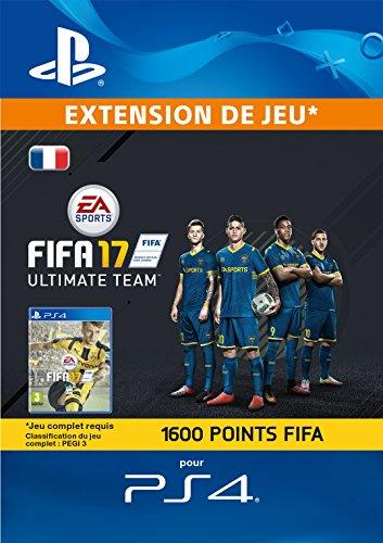 FIFA 17 Ultimate Team - 1.600 Points FIFA [Code Jeu PSN PS4 - Compte français]