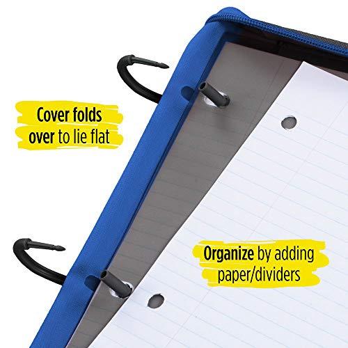 Five Star Flex Hybrid NoteBinder, 1 Inch Ring Binder, Notebook and Binder All-in-One, Cobalt (73418) Photo #4