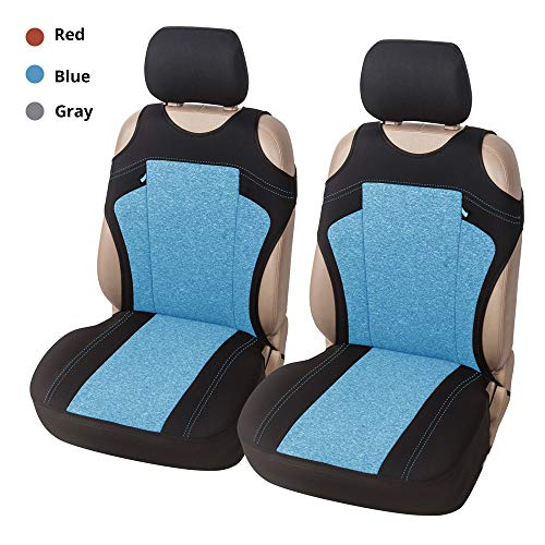 Vest Style Car Seat Covers, Universal Front Seat Covers Seat Protectors, 2 PCs(Red/Blue/Gray)