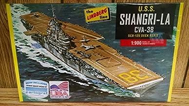 Lindberg HL442 U.S.S. Shangri-La CVA-38 Aircraft Carrier 1:900 Scale Plastic Model Kit - Requires Assembly