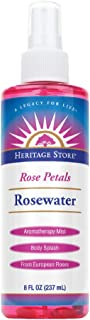 Heritage Store Rosewater Spray | Hydrating Mist for Skin & Hair | No Dyes or Alcohol | Vegan | 8 oz