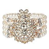 ArtiDeco 1920s Armband Perlen Damen Gatsby Kostüm Zubehör Blinkende Kristall Armreif 20er Jahre...
