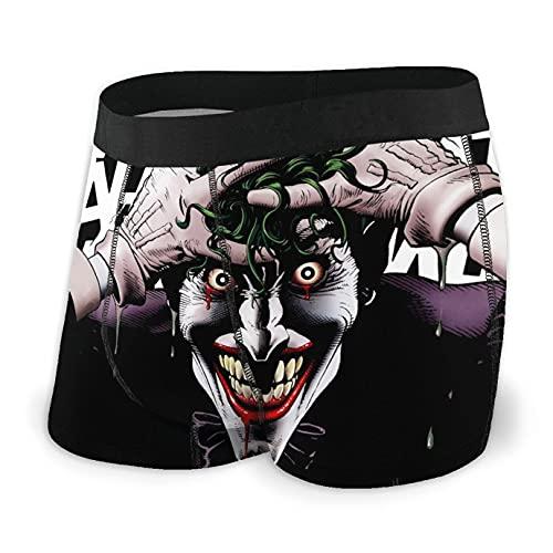 Bjiuda Joker Herren Boxershorts, Unterwäsche, weiche Filme, Boxershorts für Jungen Gr. L, Schwarz