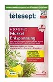 tetesept Meeressalz Badezusatz Muskel Entspannung – Badesalz mit ätherischen Ölen - Löst Verspannungen, lockert – 1er Pack (1x 80 g)