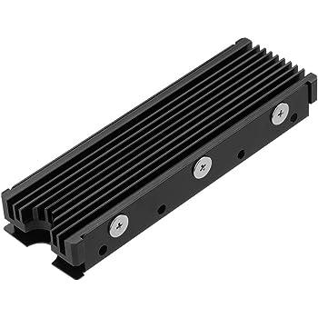 M.2 2280mm SSD両面ヒートシンク (黒)