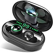 Donerton Wireless Earbuds, Bluetooth 5.0 Headphones IP8 Waterproof Earbuds, 80 Playtime, in Ear Headphones with Mic, Deep Bass 3D Stereo, Noise Canceling, Sports, Work Out, Easy Pairing