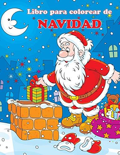 Libro para colorear de Navidad: Las Aventuras de Papá Noel: 1 (Libros divertidos para colorear)