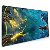 Lightning Godzilla Extended Gaming Mouse Mat, DIY Custom Professional Mouse Pad (35.5x15.8In),Desk Pad Keyboard Pad Mat, Water-Resistant, Non-Slip Base, for Work & Gaming, Office & Home