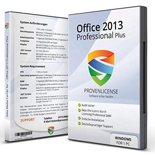 Office 2013 Professional Plus - ProvenLicense 32/64 bit ISO DVD + Lizenzschlüssel per E-Mail - inkl. aller aktuellen Updates - Deutsch