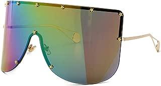 YWYU Gafas Creativas de Gran Caja Máscara Grande Máscara oceánica Pieza Decorativa de Cinco Estrellas Sombrilla Espejo Europa y América Gafas de Sol de Foto de Calle (Color : E)