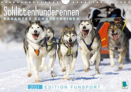 Schlittenhunderennen: Rasantes Schneetreiben - Edition Funsport (Wandkalender 2021 DIN A4 quer)