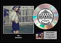 10種類! テイラー・スウィフト/Taylor Swift/gold disc album/24金ゴールド ディスク/platinum disc album/プラチナディスク証明書付きフレーム/ディスプレイ/cd [並行輸入品] (Red-4, PLATINUM DISC)