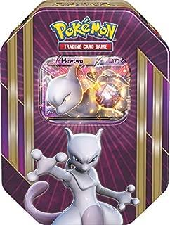 Pokemon TCG: Triple Power Collector's Pokemon Tin - Contains Mewtwo EX, Shiny Gyarados EX OR Machamp EX, 4 Pokemon Booster Packs and Online Code