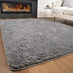 INDULGENCE UNDERFOOT: Experience the definition of luxury and comfort with the Gorilla Grip Fluffy Area Rug. Constructed with fluffy, soft shaggy faux fur, it's made for comfort and indulgence underfoot. Extra thick and plush, with a 3mm thick foam p...