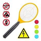 Relaxdays, orange elektrische Fliegenklatsche, ohne chemische Stoffe, gegen Fliegen, Mücken & Moskitos, Fly