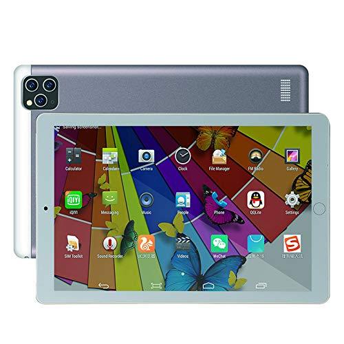 ELLENS Tableta Android 8.1 de 10.1 Pulgadas, PC Phablet de Llamadas telefónicas 3G con Google Play, Extensión de 16GB ROM 64GB, Ranuras para Tarjetas Dual Sim, WiFi, Bluetooth, GPS