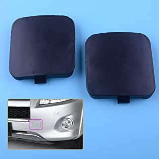 2pcs Front Left & Right Car Bumper Trailer Tow Hook Eye Covers Caps 53286-0R020 Fit For Toyota RAV4 2009 2010 2011 2012