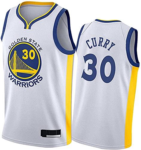 Golden State Warriors #30 Bordada Stephen Curry Stephen Curry Camiseta De Baloncesto para Hombre,Basketball Jersey Black Transpirable De Malla (Size:/L,Color:G2)