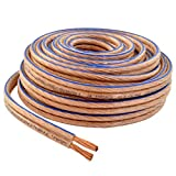 Car Home Audio Speaker Wire Transparent Clear Cable 10AWG 10/2 Gauge (100 Feet)