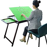 Kcelarec Wooden Jigsaw Table Puzzle Table,Large Portable Folding Tilting Puzzle Table for Puzzle Games,1500 Pcs Puzzles