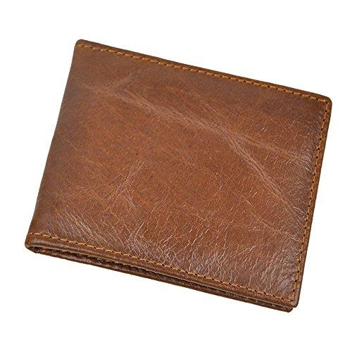 Draagbare portemonnee mannen echt lederen portemonnee mannen portemonnee korte dunne Zero portemonnee portemonnee polszakken zakelijke casual clutch tas gaat goed met jeans of pak
