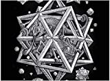 Rompecabezas para adultos Rompecabezas de 500 piezas para adultos y niños, Rompecabezas de 500 piezas Juguetes grandes para juegos de rompecabezas, Escher Space Black, Escher Space Black-Talla única