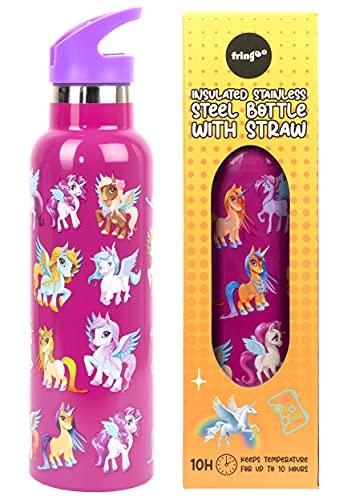 Botellas De Agua Acero Inoxidable Unicornio Marca Fringoo