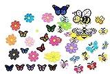 Modou Patches Aufnäher Kinder/Aufbügeln Butterfly Bee Blumen Patch Sticker Applique Kleidung Kleid Pflanze Hut Jeans Nähen Applique DIY Zubehör (40 Stück)