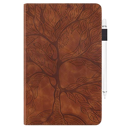 JZ [Tree of Life] Case Compatible with Lenovo Tab E10 (TB-X104F) Tablet PC Flip Cover - Brown